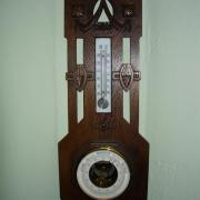 Jugendstil Thermometer und Barometer Eiche um 1910 20 b 56 h guter Orginalzustand 120 €