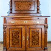 Anrichte mit Aufsatz Nussbaum um 1900 restauriert 120 b 60 t 170 h 1300 €